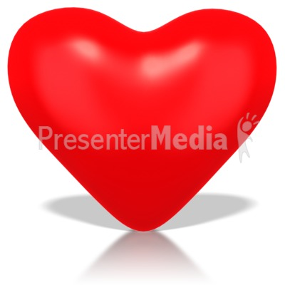 Single Heart PowerPoint Clip Art