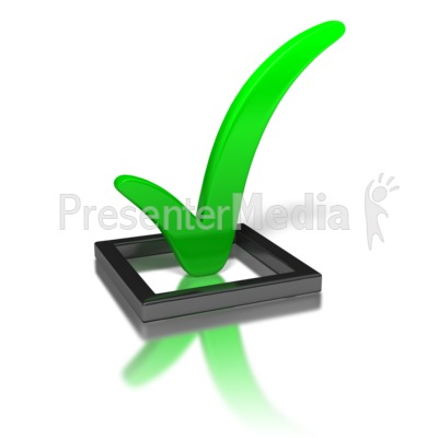 Green Check Mark In Box PowerPoint Clip Art