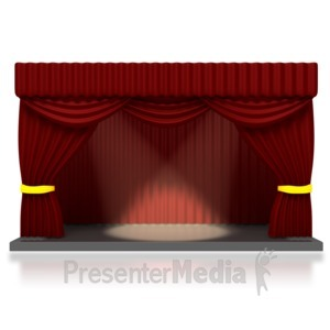 ID# 1631 - Theater Stage with Spotlights - Presentation Clipart