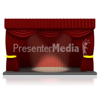 Theater Stage with Spotlights PowerPoint Clip Art