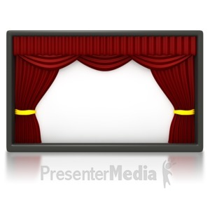 ID# 1633 - Theater Stage Blank Panel - Presentation Clipart