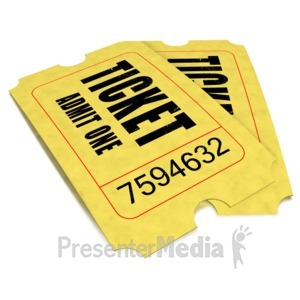 ID# 1635 - Pair Movie Tickets - Presentation Clipart