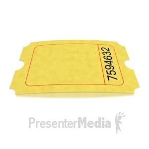 ID# 1637 - Single Blank Movie Ticket - Presentation Clipart