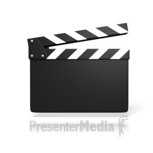 ID# 1638 - Blank Film Slate or Clapboard - Presentation Clipart