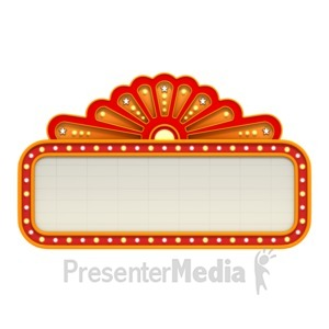ID# 1639 - Classic Movie Theater Marquee - Presentation Clipart