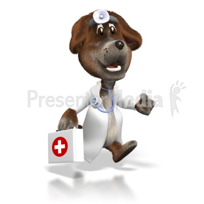 Cartoon dog vet with first aid kit wildlife and nature great cartoon dog vet with first aid kit powerpoint clip art toneelgroepblik Choice Image
