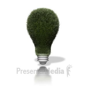 ID# 1644 - Go Green Lightbulb - Presentation Clipart