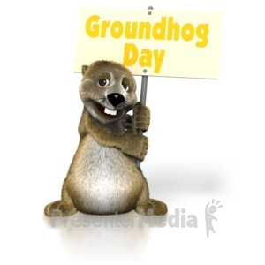 ID# 1652 - Groundhog Day Sign - Presentation Clipart
