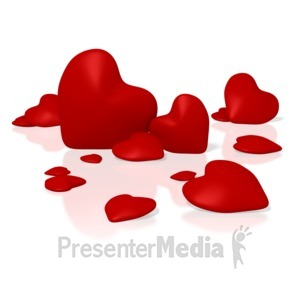 ID# 1662 - Group Of Hearts - Presentation Clipart