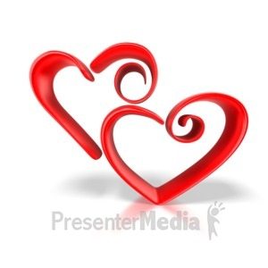 ID# 1663 -  Stylized Hearts - Presentation Clipart