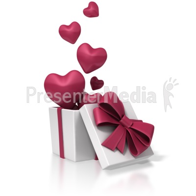Valentines Day Box Of Hearts PowerPoint Clip Art
