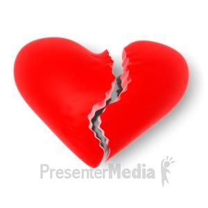 ID# 1665 - Broken Heart - Presentation Clipart