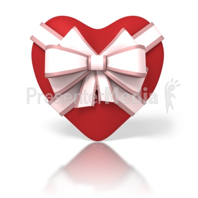 Heart With Ribbon PowerPoint Clip Art