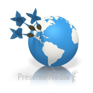 ID# 1685 - Blue Earth Three Darts North America - Presentation Clipart