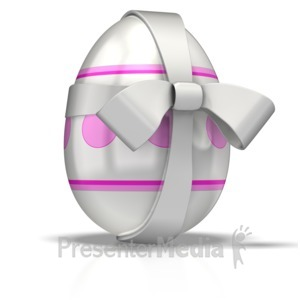 ID# 1702 - Easter Egg Gift  - Presentation Clipart