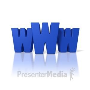 ID# 1706 - World Wide Web Text - Presentation Clipart