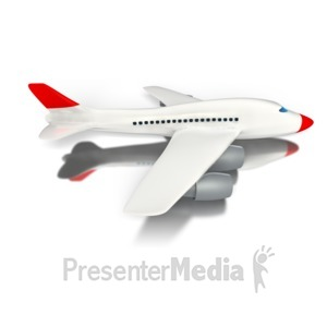 ID# 1707 - Travel Airplane - Presentation Clipart