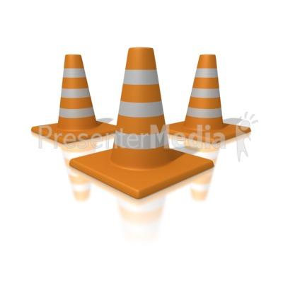Orange Traffic Cones PowerPoint Clip Art