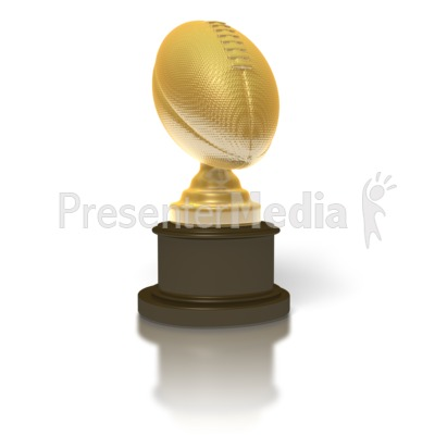 Gold Football Trophy Presentation clipart