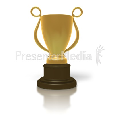 Golden Trophy Cup PowerPoint Clip Art