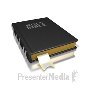 ID# 1717 - Black Holy Bible - Presentation Clipart
