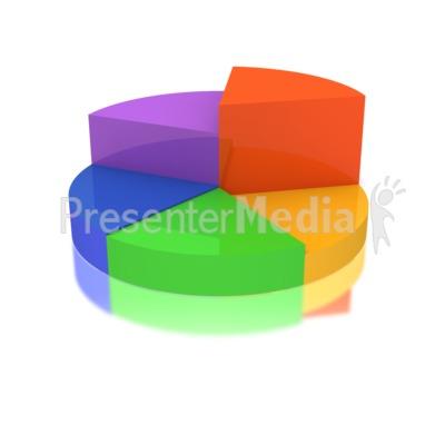 Multicolored Business Pie Graph PowerPoint Clip Art