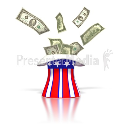 Uncle Sam Money Tax Hat  PowerPoint Clip Art