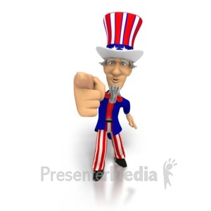 ID# 1725 - Uncle Sam I want you - Presentation Clipart