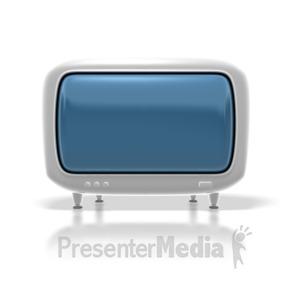 ID# 1737 - Retro Hdtv Monitor - Presentation Clipart