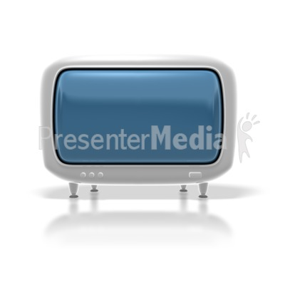 Retro Hdtv Monitor PowerPoint Clip Art