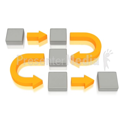Business Diagram Curved Arrows Blocks PowerPoint Clip Art