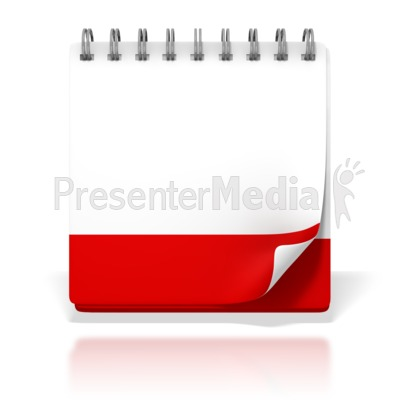 Blank Office Desk Calendar PowerPoint Clip Art