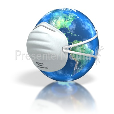 World Dust Mask Cover PowerPoint Clip Art
