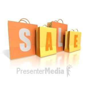 ID# 1761 - Shopping Bags Sale - Presentation Clipart