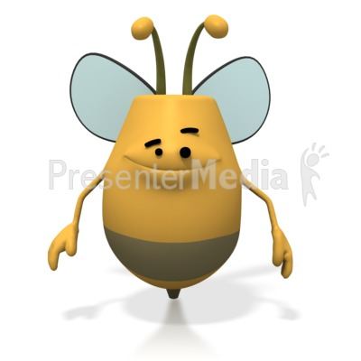 Bee Smiling Happy PowerPoint Clip Art