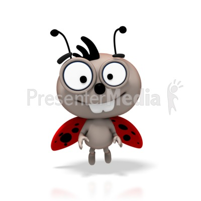LadyBug Flying Smile PowerPoint Clip Art