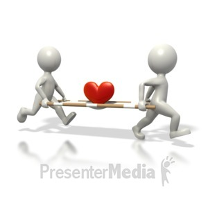 ID# 1772 - Medics Carrying Heart Stretcher - Presentation Clipart