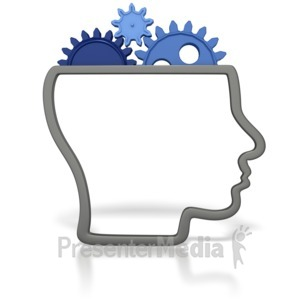 ID# 1795 - Gears for a Brain - Presentation Clipart