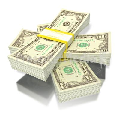 short stack of money PowerPoint Clip Art