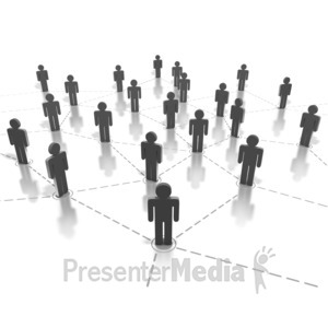 ID# 1809 - Networking People Connection - Presentation Clipart