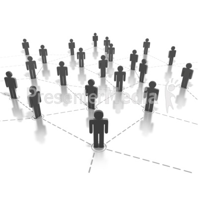 Networking People Connection PowerPoint Clip Art
