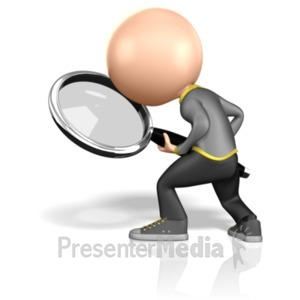 ID# 1813 - Searching Stick Figure - Presentation Clipart