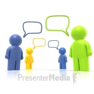 ID# 1815 - Group Discussion  - Presentation Clipart