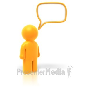 ID# 1818 - Answer or Question Bubble - Presentation Clipart