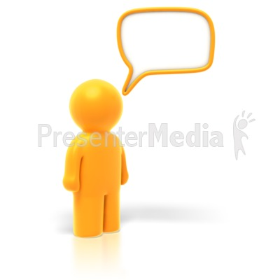 Answer or Question Bubble PowerPoint Clip Art