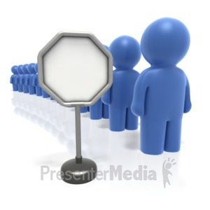 ID# 1826 - Long Line Wait - Presentation Clipart