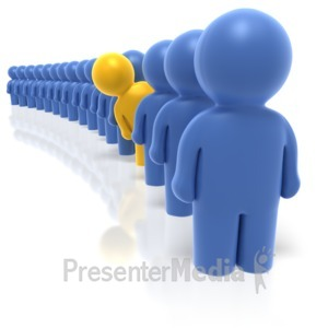 ID# 1827 - Single File Line  - Presentation Clipart