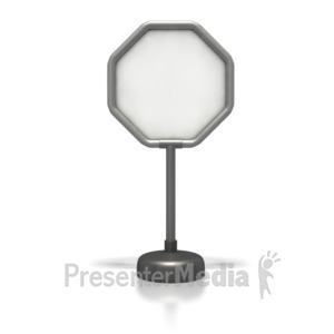 ID# 1828 - Ocagonal Blank Sign  - Presentation Clipart