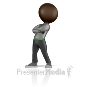 ID# 1850 - Stick Figure Standing Proud - Presentation Clipart