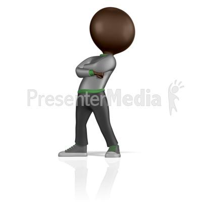 Stick Figure Standing Proud PowerPoint Clip Art